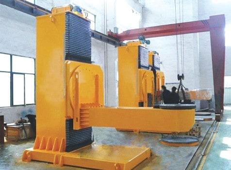 Posicionador de rotação e torneamento tipo L de elevação