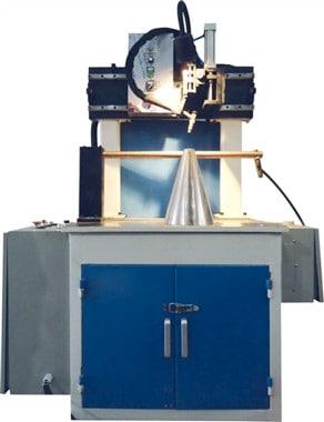 Table type longitudinal seam welding machine