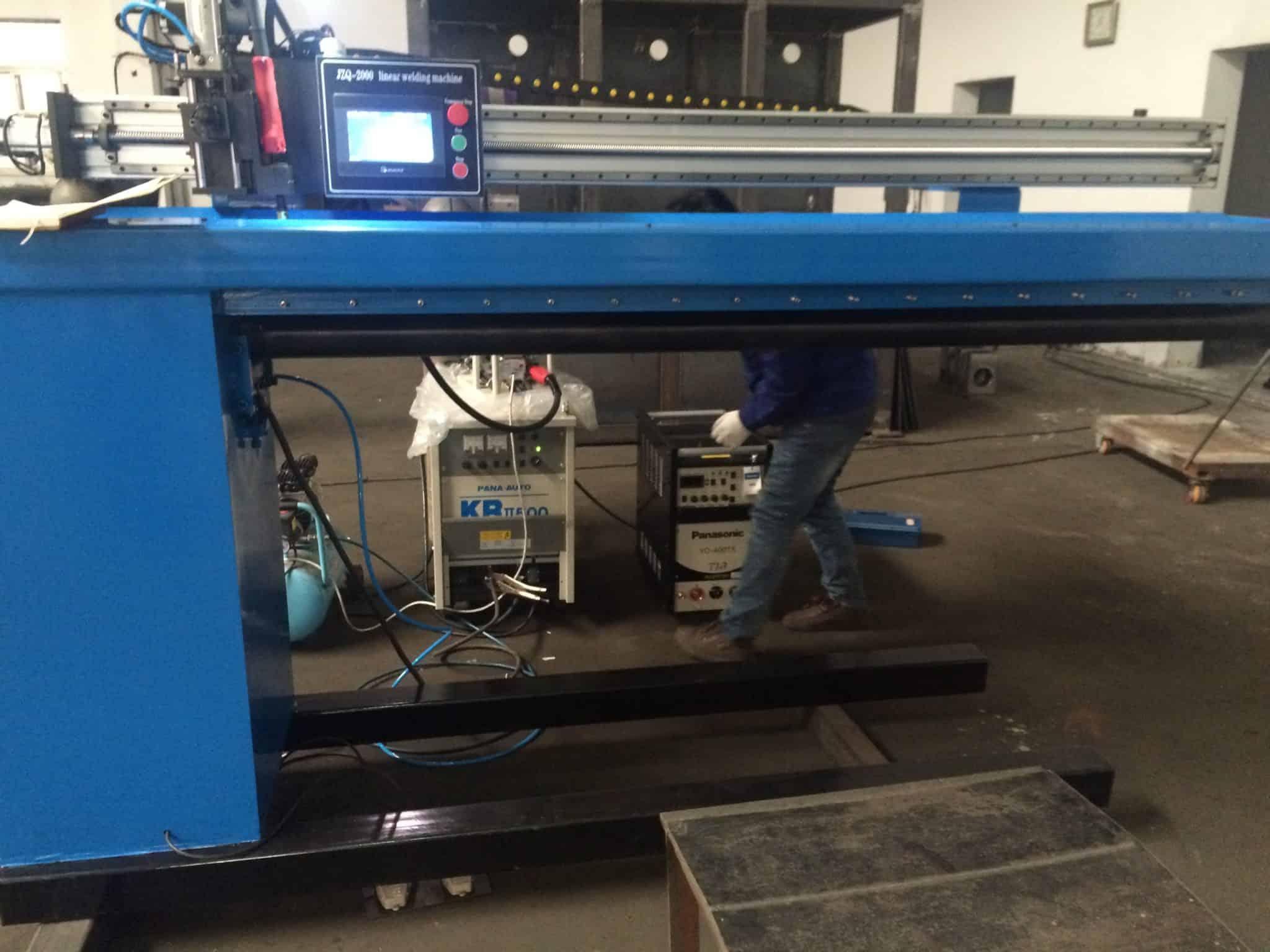 Máquina de solda linear automática por costura